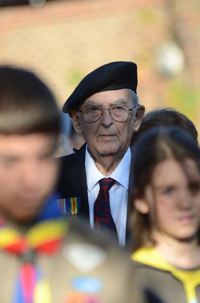 Veteran Kenneth Scott, 84, at the service.