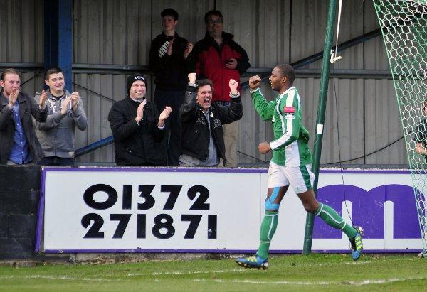 Vital: Vernon Francis celebrates his opening goal on Saturday
