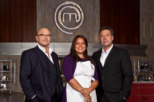 Shelina Permalloo with the MasterChef judges