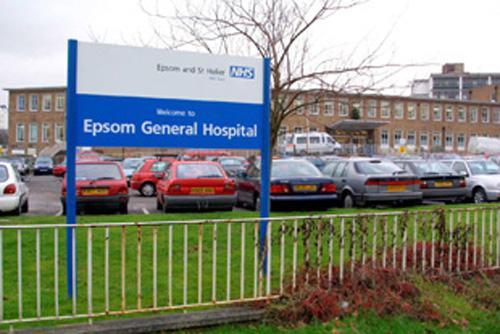 Epsom hospital sign