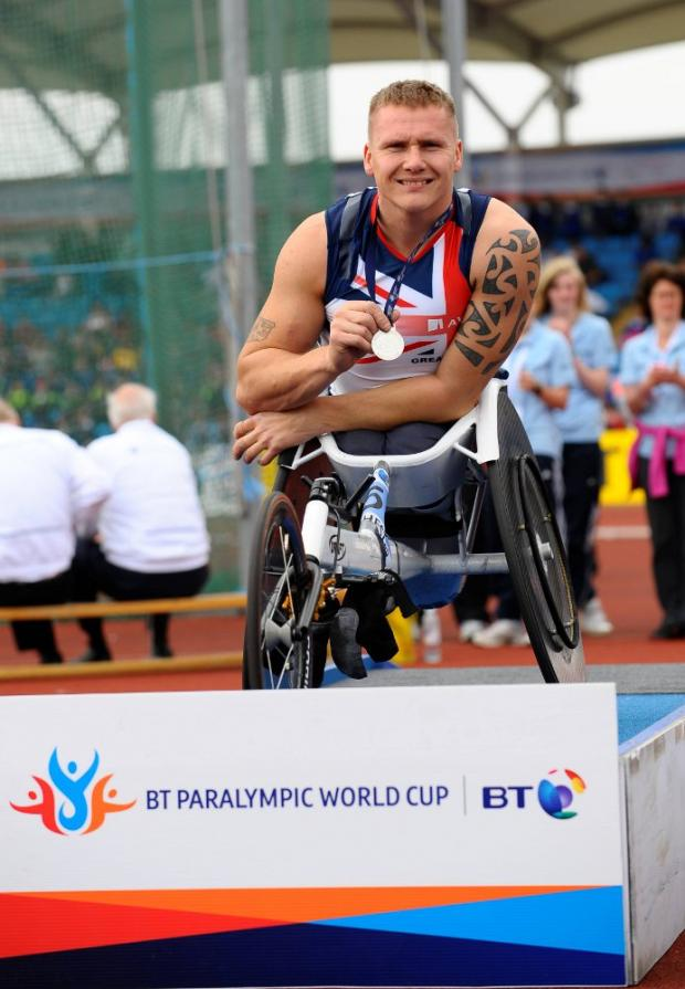 Going for gold: David Weir is hoping for victory in the London marathon this Sunday. Jason Cairnduff