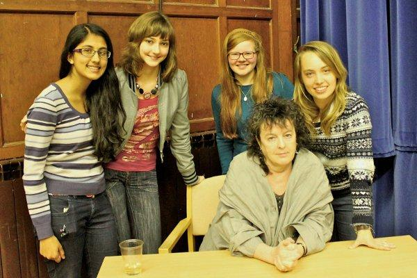 Poet Laureate Carol Ann Duffy read to Roseberry School students