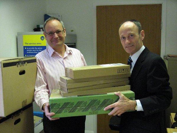 Generous donation wins Epsom advice bureau computers