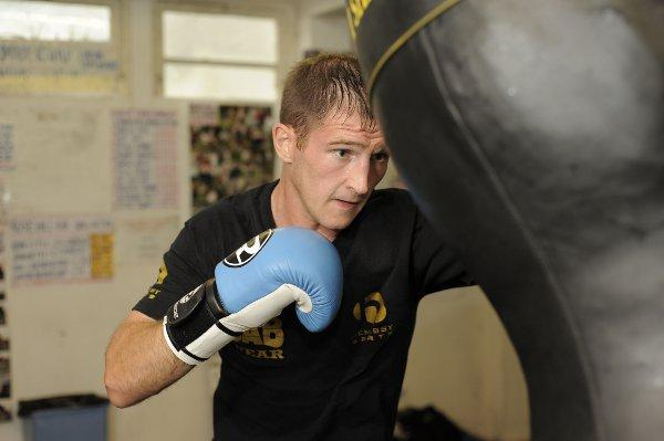 Missing out: Former British light welterweight champion Lenny Daws has had to pull out of his English title fight this weekend after injuring his hand