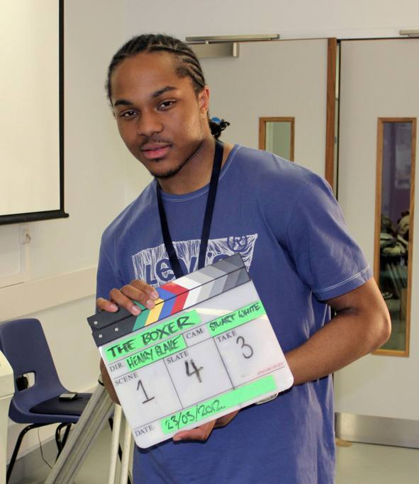 Student works with Denzil on debut film