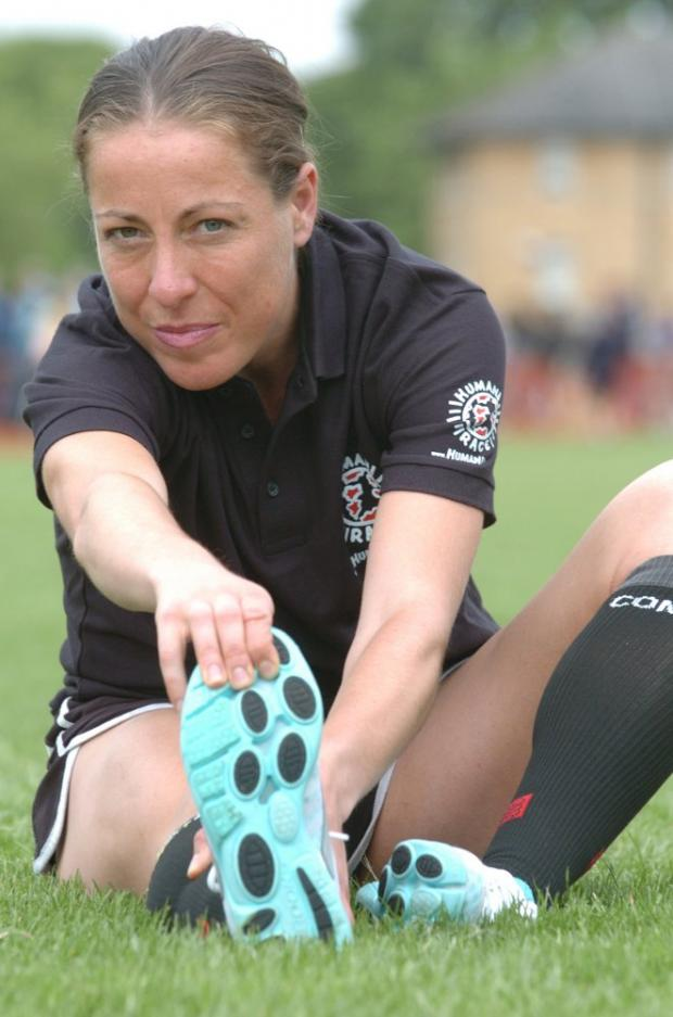 Warming up for success: Jess Draskau-Petersson, at St Mary's University last week, has not ruled out Rio 2016 too