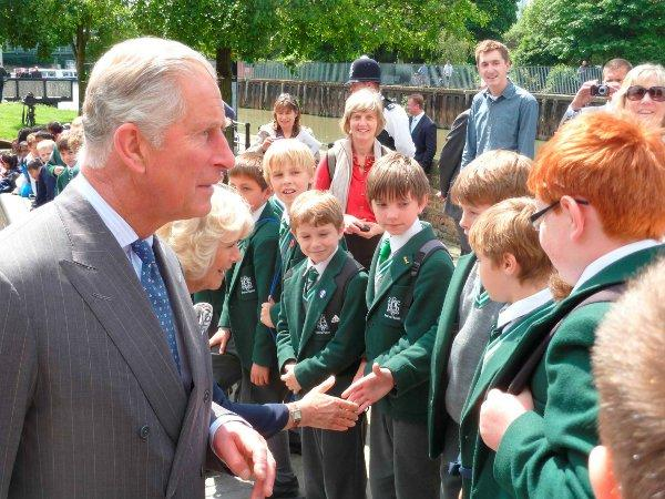 Year Four pupils from Kingswood House School bumped into the royals