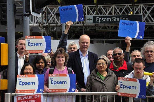 "Chris Grayling MP said he feels ""optimistic"" about the prospect of Zone 6 for Epsom"