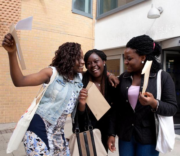 All smiles at Lambeth College (L-R): left to right; Stella Omoniyl, Francisca Adeniran and Yewande Gafaar