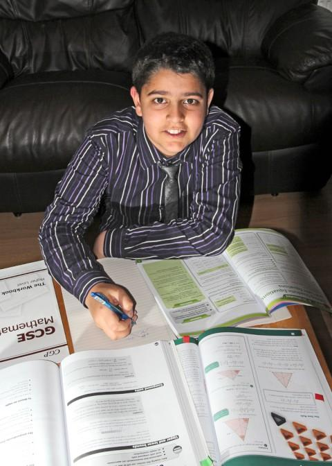 13-year-old maths whizz Adam Butt earns A* in GCSE