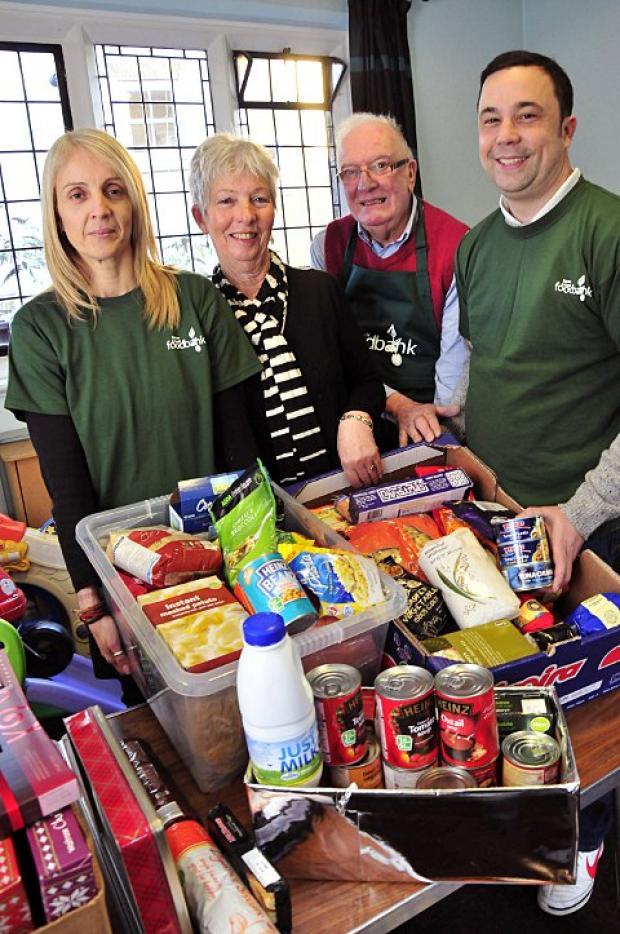 Volunteers: Keri Marshall, from Voluntary Action Mid Surrey, Lesley Neville, Jonathon Lees and Dennis Ward.