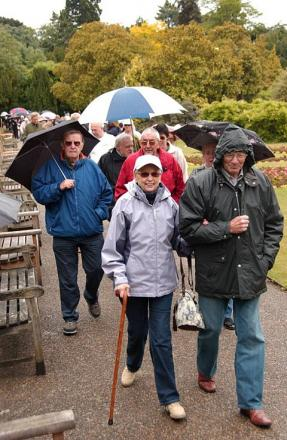 Fundraisers on last year's walk