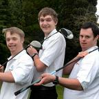 Trio of terrific golfers: Mikael Undrom, Scott Hastings and William Cottrell            EL74803