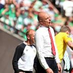 Sinking feeling: Rosler feels the Wembley hurt
