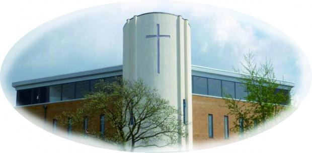 The new Church from Ruxley Lane
