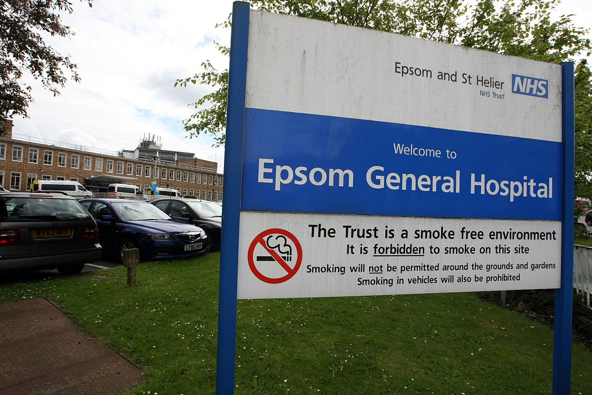 Visitors to Epsom Hospital witnessed an operation taking place through a window