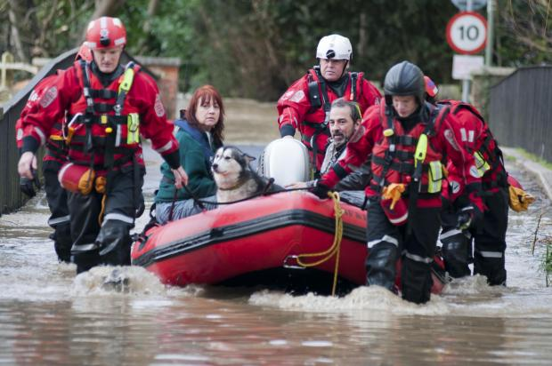 A rescue in Thorncroft Drive, Leatherhead, on Christmas Eve