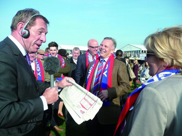 Epsom Guardian: Die hard Crystal Palace supporter Steve Preston is Sire De Grugy's owner