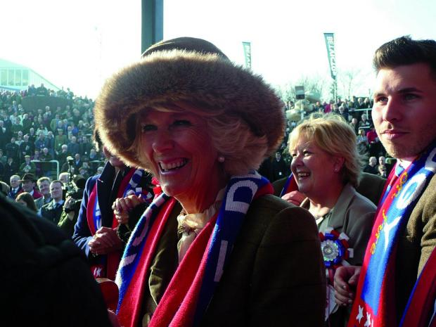 Epsom Guardian: The Duchess of Cornwall was given one of the Sire De Grugy scarves