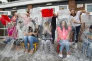PICTURES: Nursery staff do ice bucket challenge at summer fair