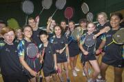 Young badminton players take part in a 24-hour marathon in Epsom