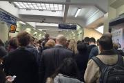Crowds at Surbiton station earlier this month