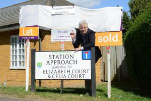 Brian Angus, the chairman of Ewell Village Residents' Association, directed his ire at estate agents' signs in Station Approach, leading to Elizabeth Court and Celia Court, Ewell