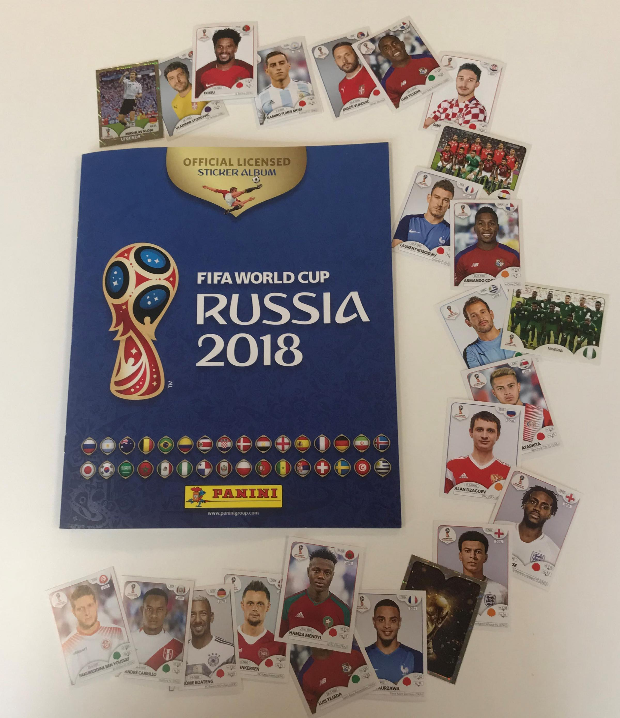 Panini's World Cup 2018 sticker book. Photo: Cardiff University's School of Mathematics/PA Wire