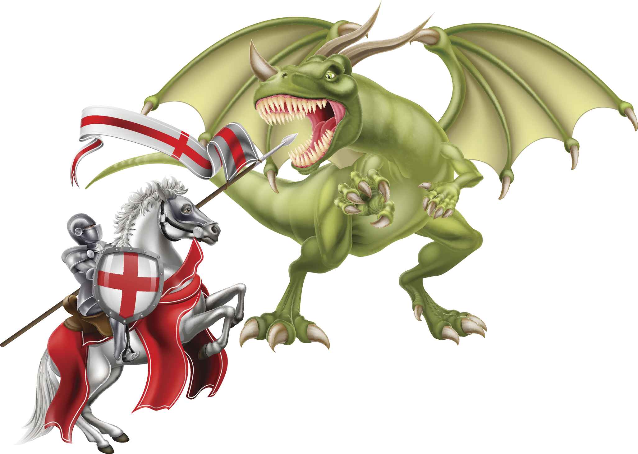 Legend says St George fought a dragon. Photo: Getty/ChrisGorgio